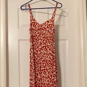 H&M Cheetah Print Long Summer Dress - Size 8